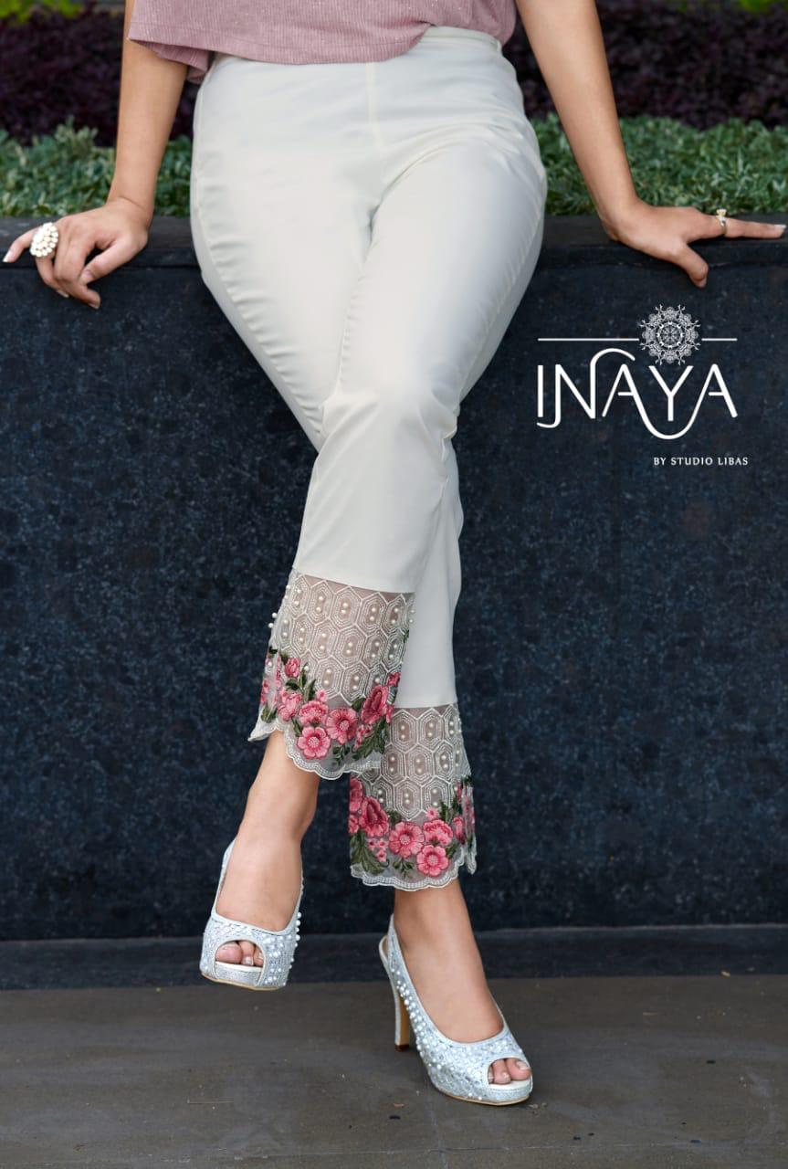 Inaya Cigarette Pants Designer Cotton Cigarette Pants Wholesale