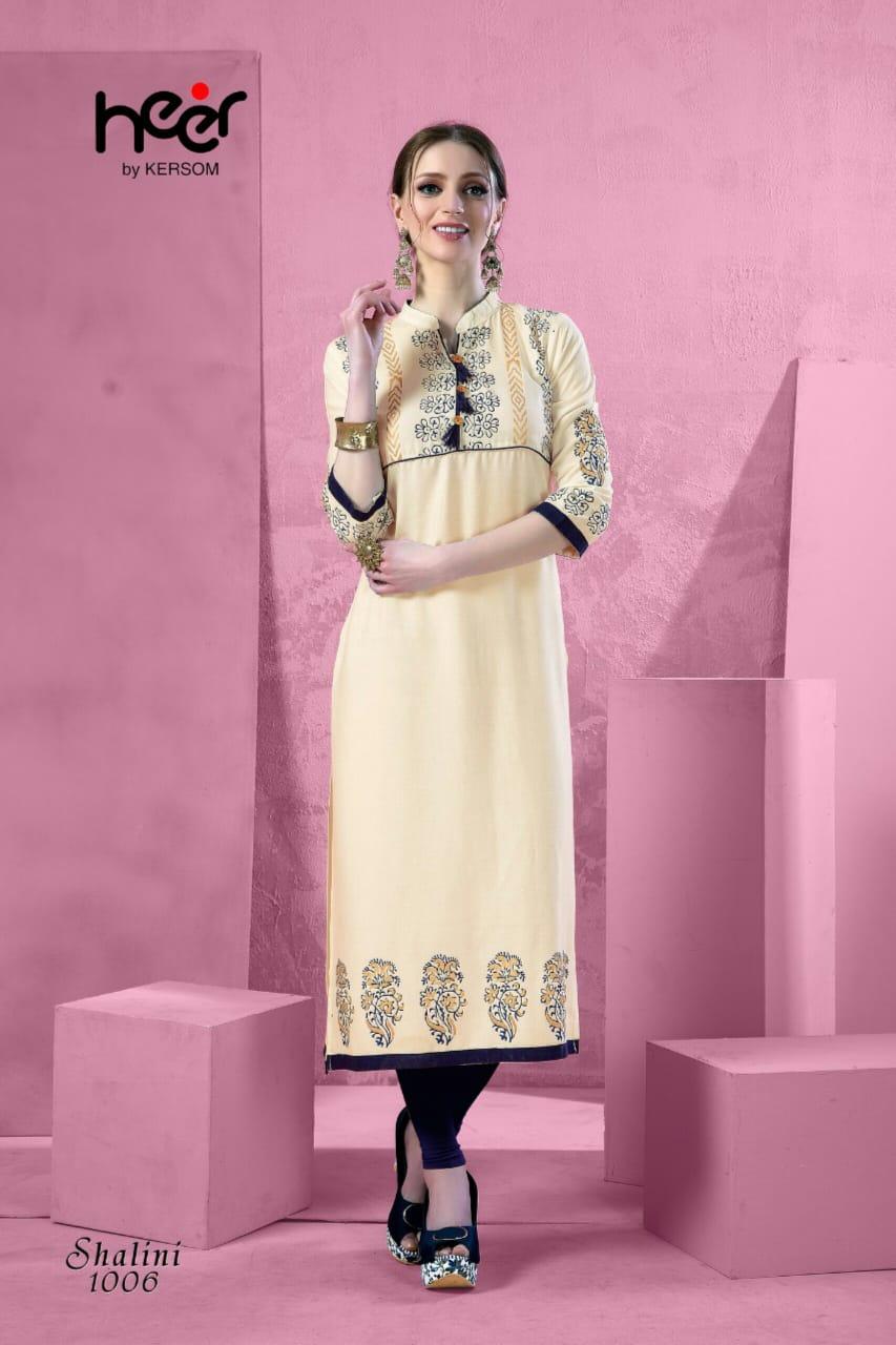 Heer Shalini Designer Office Wear & Daily Wear Kurties Wholesale