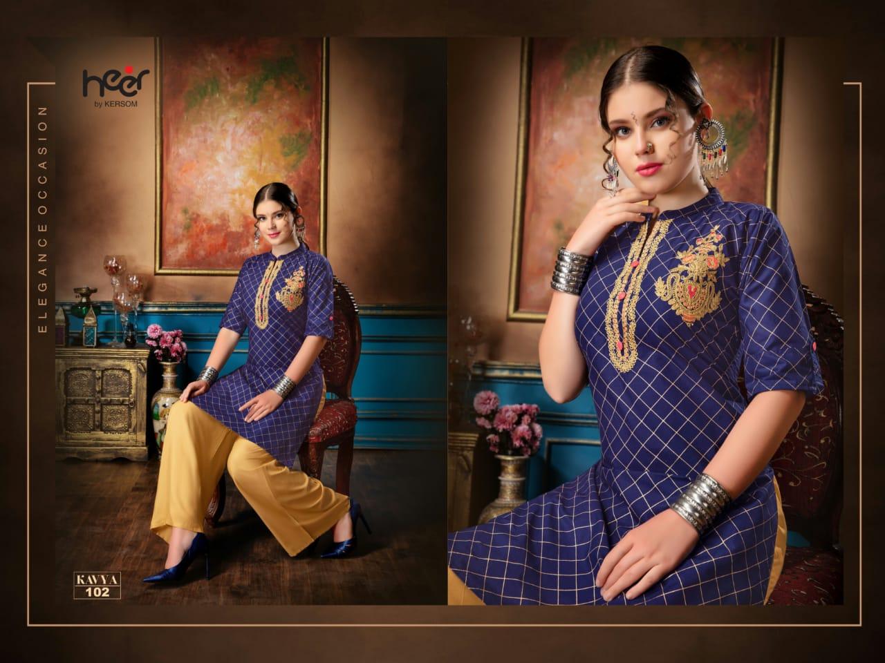 Heer Kavya Designer Cotton Stitch Kurties Wholesale