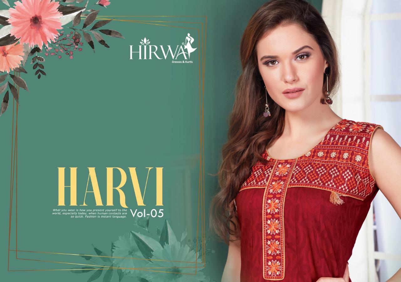Hirwa Harvi Vol 5 Designer Cotton Stich Anarkali Kurties Wholesale