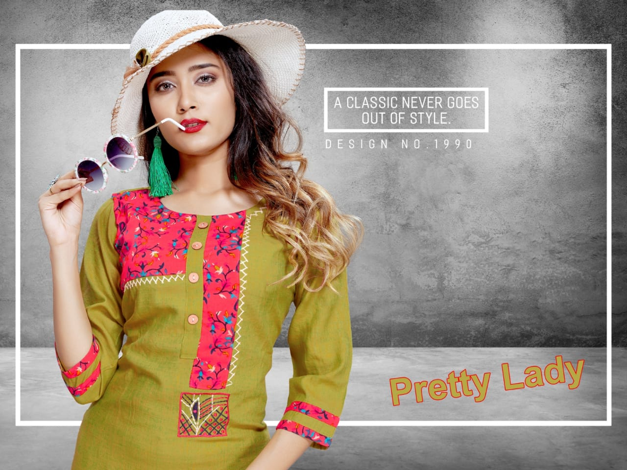 Trendy Pretty Lady Designer Heavy Rayon Stich Kurties Wholesale