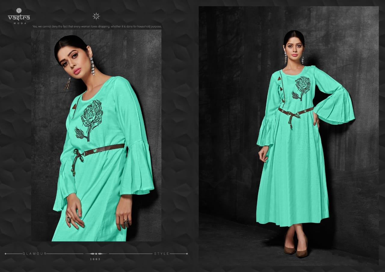Vastra Moda Zara Vol 1 Designer Stylist Kurties Wholesale