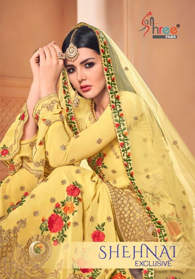 Shree Fabs Shehnai Exclusive Designer Faux Georgette Suits Wholesale