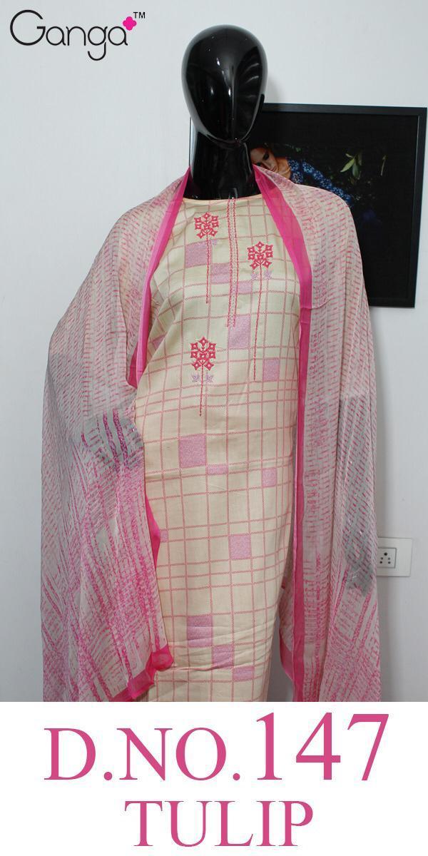 Ganga Tulip 147 Designer Silk Satin Printed Suits Wholesale