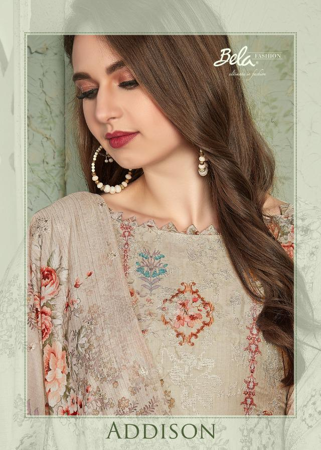 Bela Fashion Addison Designer Heavy Muslin Work & Embroidered Suits Wholesale