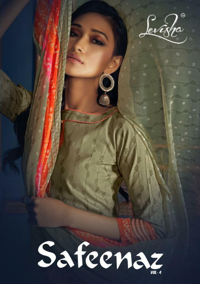 Levisha Safeenaz Vol 4 Designer Daily Wear Suits Wholesale