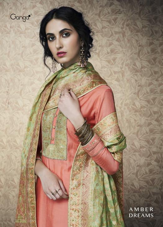 Ganga Amber Dreams Designer Banarsi Silk Suits Wholesale