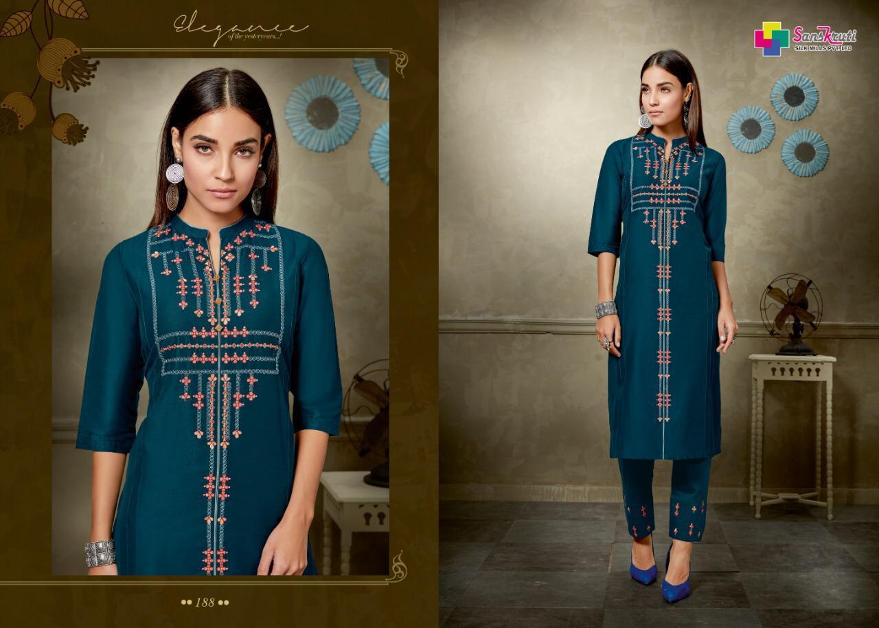 Sanskruti Mannam Designer Fancy Work Kurtis In Best Wholesale Rate