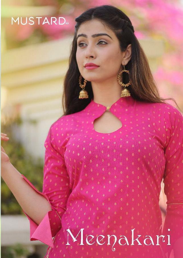 Mustard Nx Meenakari Designer Crop Top With Skirt & Sharara Wholesale