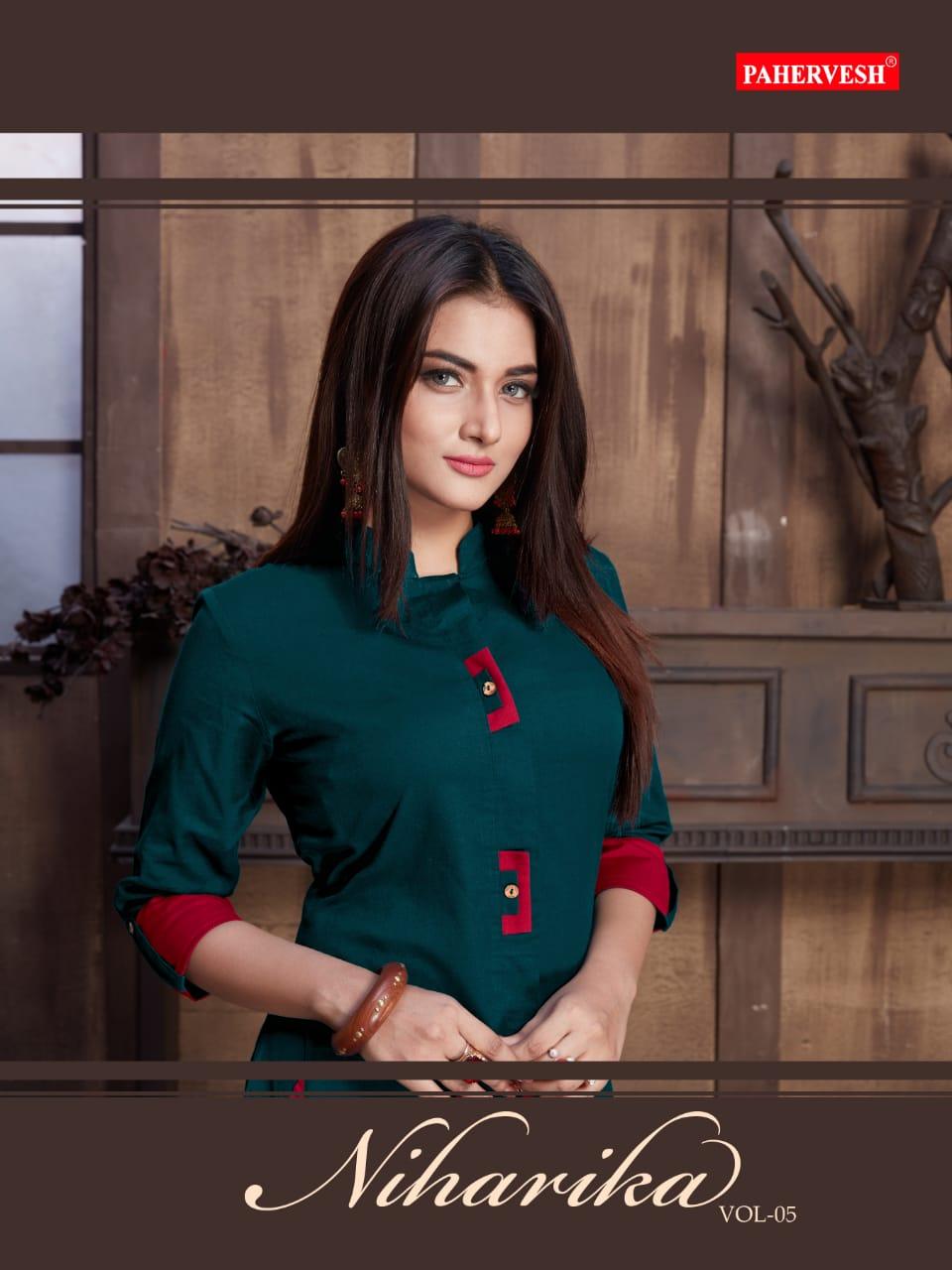 Pahervesh Niharika Vol 5 Designer Cotton Flax & Embroidered Suits Wholesale