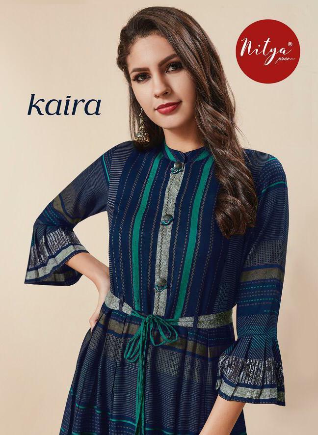 Lt Nitya Premium Kaira Designer Western Party Wear Kurties Wholesale