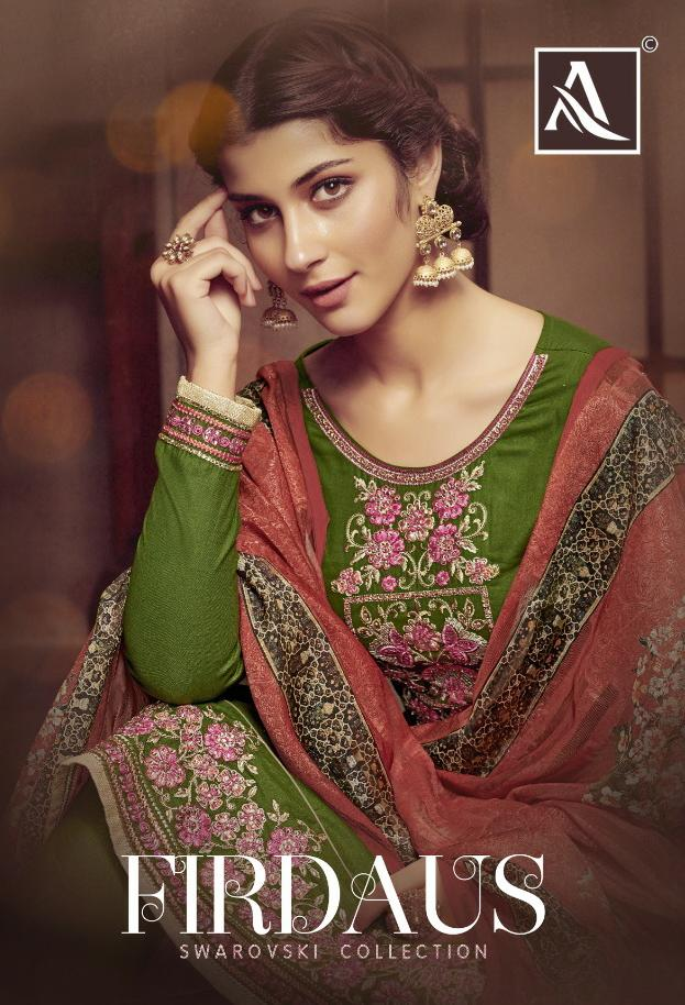 Alok Suit Firdaus Designer Embroidery Work & Hand Work Suits Wholesale