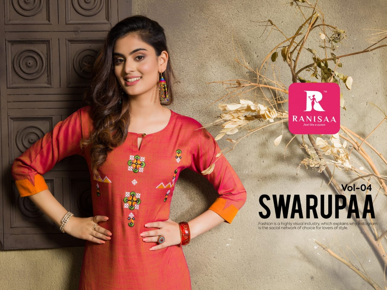 Ranisaa Swarupaa Vol 4 Designer Heavy Rayon & Embroidered Kurties Wholesale