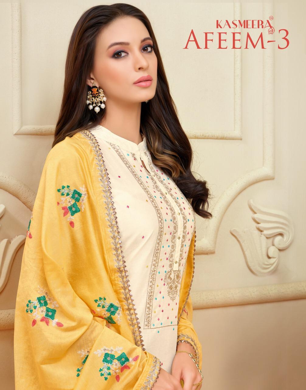 Kasmeera Afeem 3 Designer Cotton Suits Best Wholesale Rate