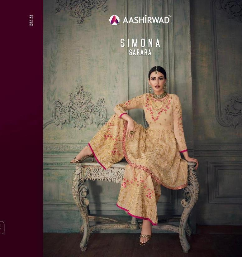 Aashirwad Simona Sharara Designer Wedding Wear Sharara Wholesale