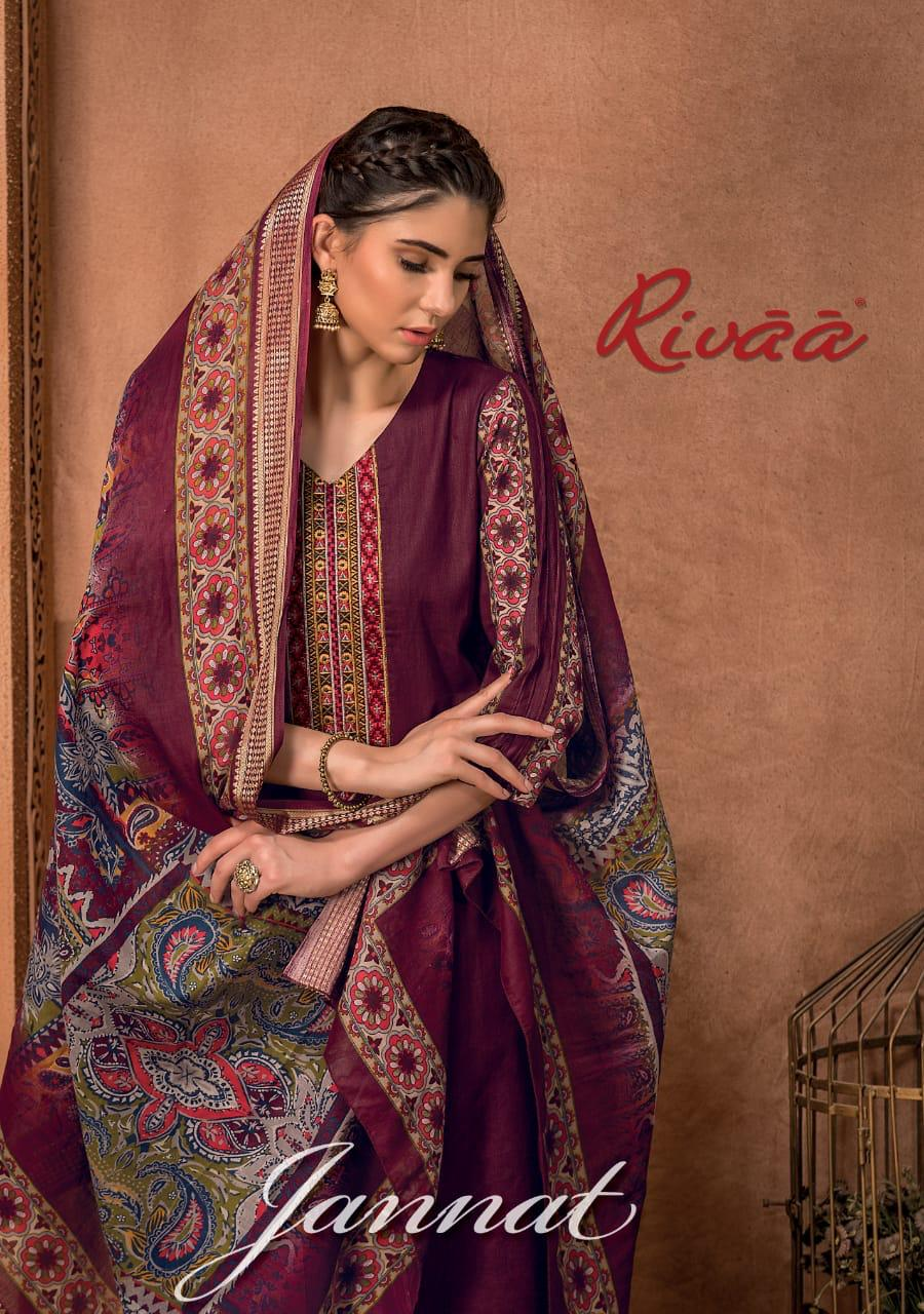 Rivaa Export Jannat Designer Jam Satin & Heavy Embroidered Suits Wholesale