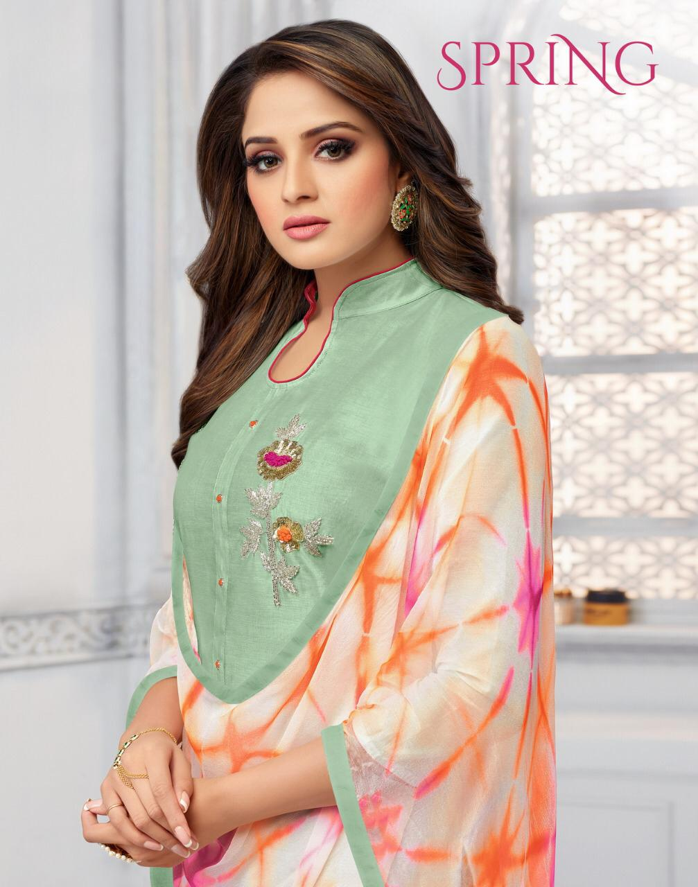 Kapil Trendz Spring Designer Cotton & Hand Work Suit Best Wholesale Rate