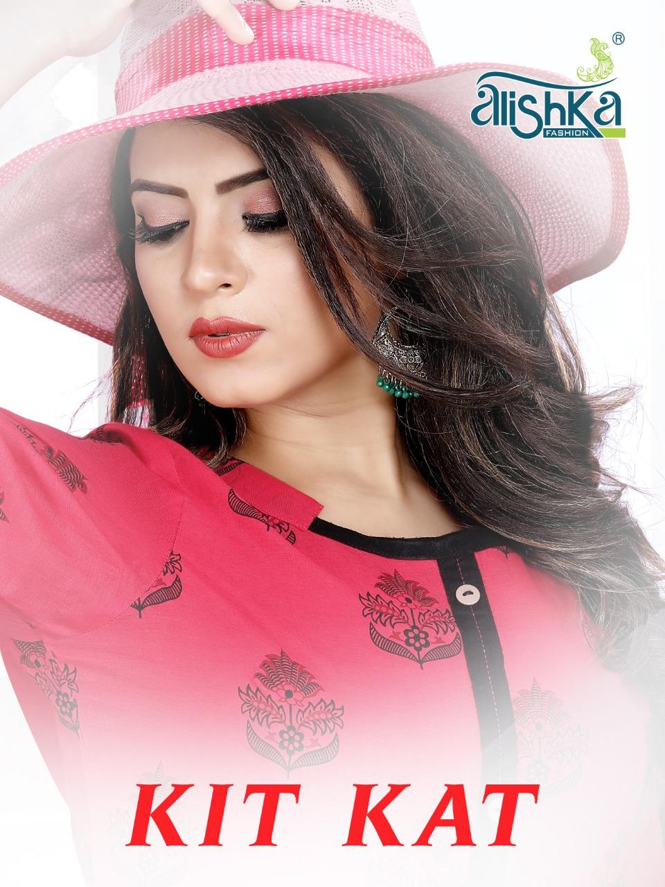 Alishka Fashion Kit Kat Designer Cotton Stitch Kurties Wholesale