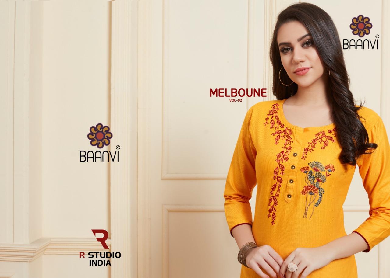 R Studio Melboune Vol 2 Designer Daily & Office Wear Kurties Wholesale