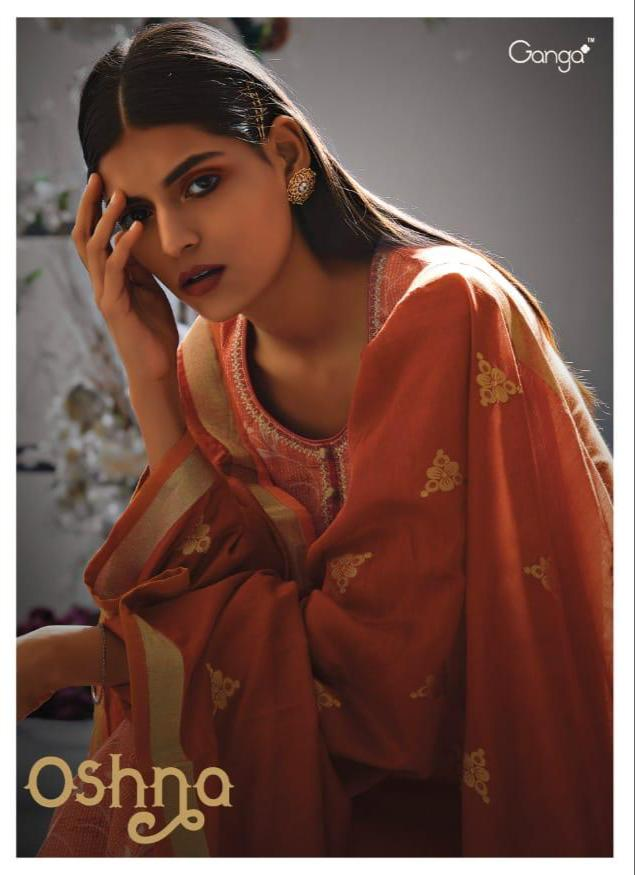 Gang Oshna Designer Cotton Silk With Heavy Embroidered Suits Wholesale