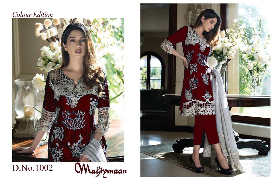 Mahiymaan Colour Edition Designer Georgette With Heavy Embroidered Suits Wholesale