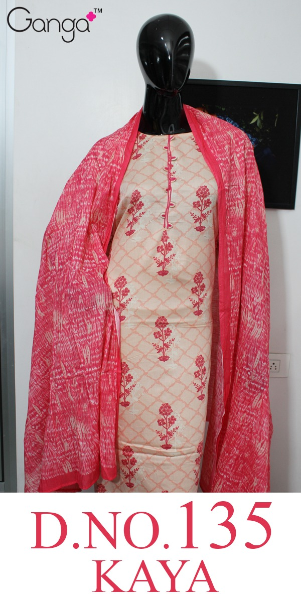 Ganga Brings Kaya 135 Designer Silk Satin Printed Suits Wholesale Surat