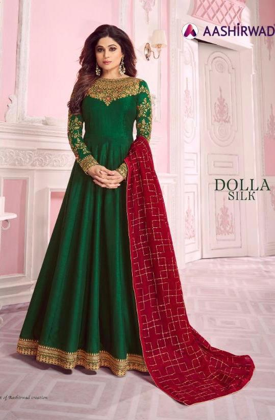 Aashirwad Dolla Silk Designer Wedding Wear & Party Wear Suits Wholesale