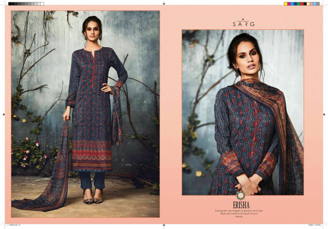 Sahiba Sarg Erisha Designer Silk Printed Suits Best Wholesale Rate