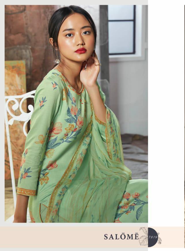 Ganga Salome Designer Heavy Satin Printed Suits Best Wholesale Rate