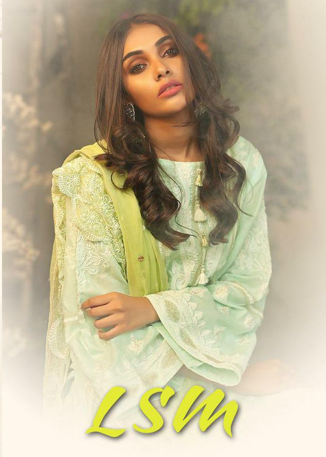 Deepsy Lsm Designer Pure Cotton & Heavy Embroidered Suits Wholesale