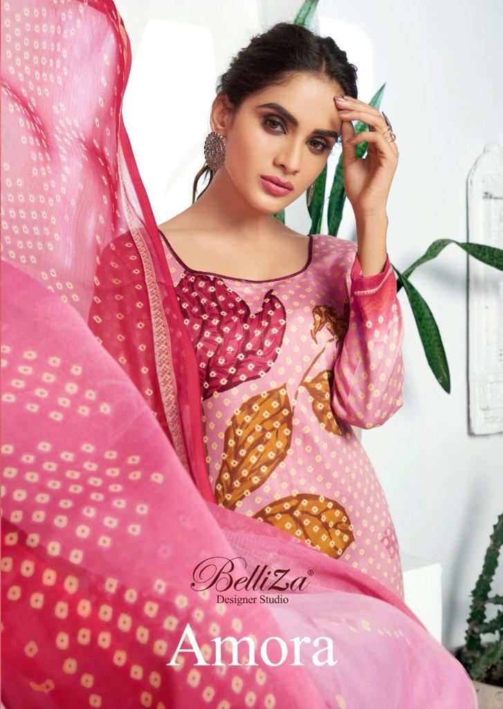 Belliza Designer Studio Amora Designer Jam Silk Printed Suits Wholesale Surat