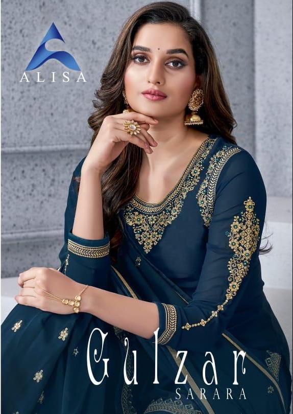 Alisa Gulzar Designer Wedding Wear Sarara Best Wholesale Rate