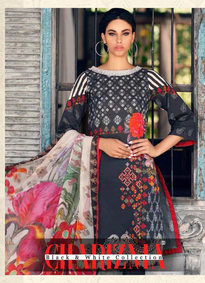 Shraddha Designer Charizma Designer Heavy Cotton Printed & Embroidered Suits Wholesale