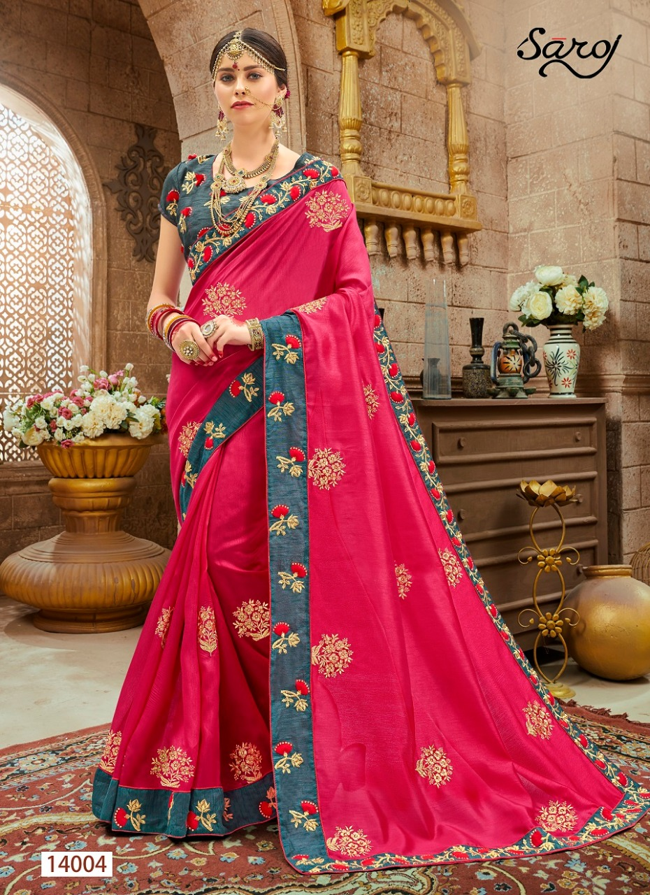 Saroj Aastha Designer Wedding Wear Sarees Best Wholesale Rate