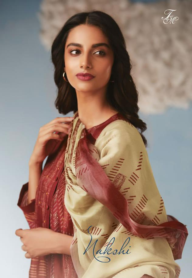 T & M Nakshi Designer Pure Raw Silk Printed & Hand Work Suits Wholesale