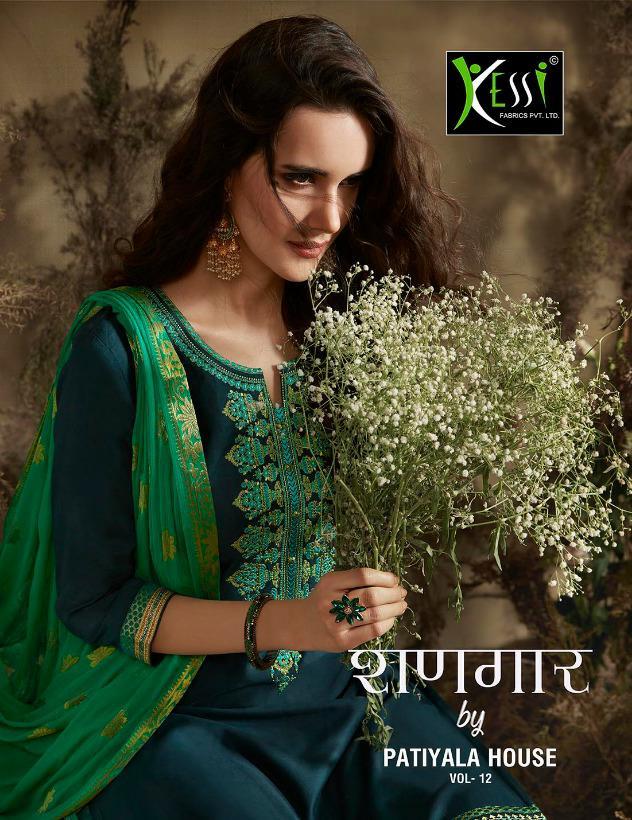 Kessi Fabrics Shangar By Patiyala Vol 12 Designer Jam Silk Cotton Suits Wholesale