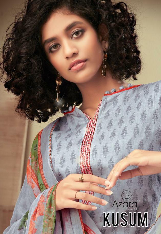 Radhika Azara Kusum Designer Heavy Cotton Satin Printed Suits Wholesale
