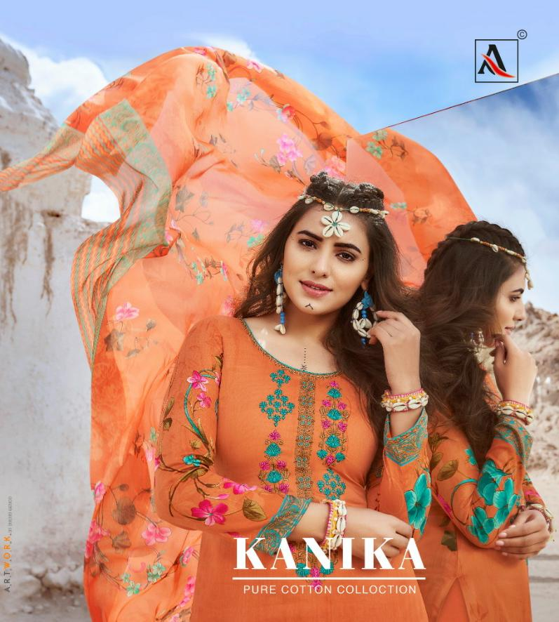 Alok Suit Kanika Designer Cotton Stylist Printed Suits With Embroidery Suits In Best Wholesale Rate