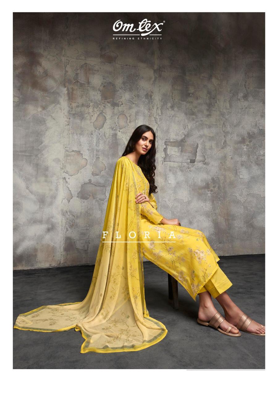 Omtex Floria Designer Silk Heavy Lawn Cotton Suits Wholesale