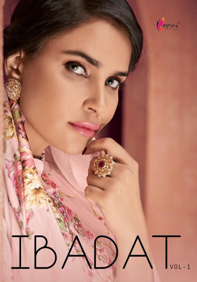Kesari Trendz Ibadat Vol 1 Designer Cambric Cotton With Self Embroidered Work Suits Wholesale