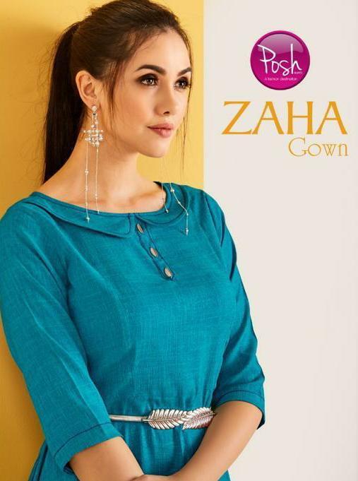 Posh Kurti Zaha Gown Designer Party Wear & Ethnic Gown Wholesale