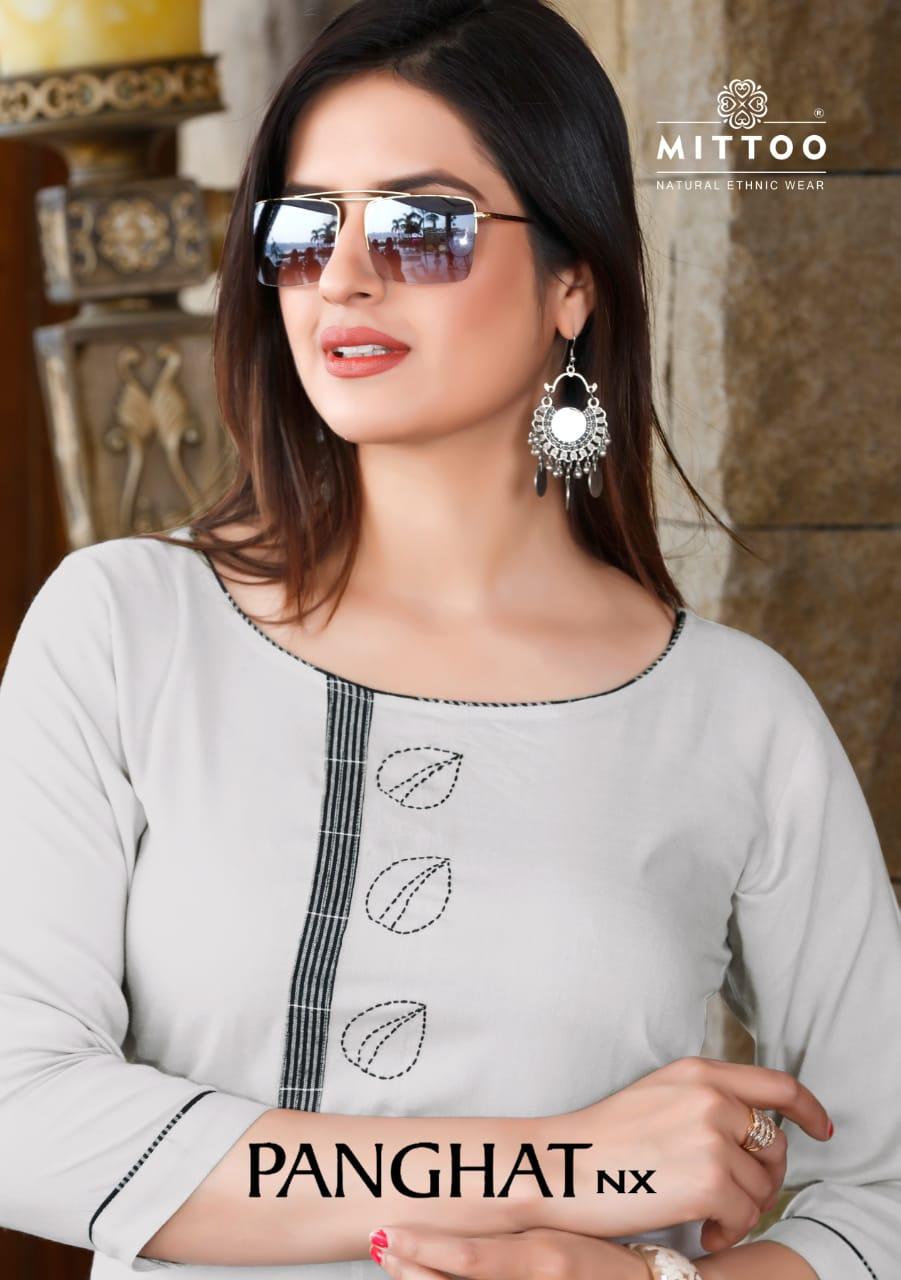 Mittoo Panghat Nx Designer Heavy Rayon Stitch Kurties Wholesale