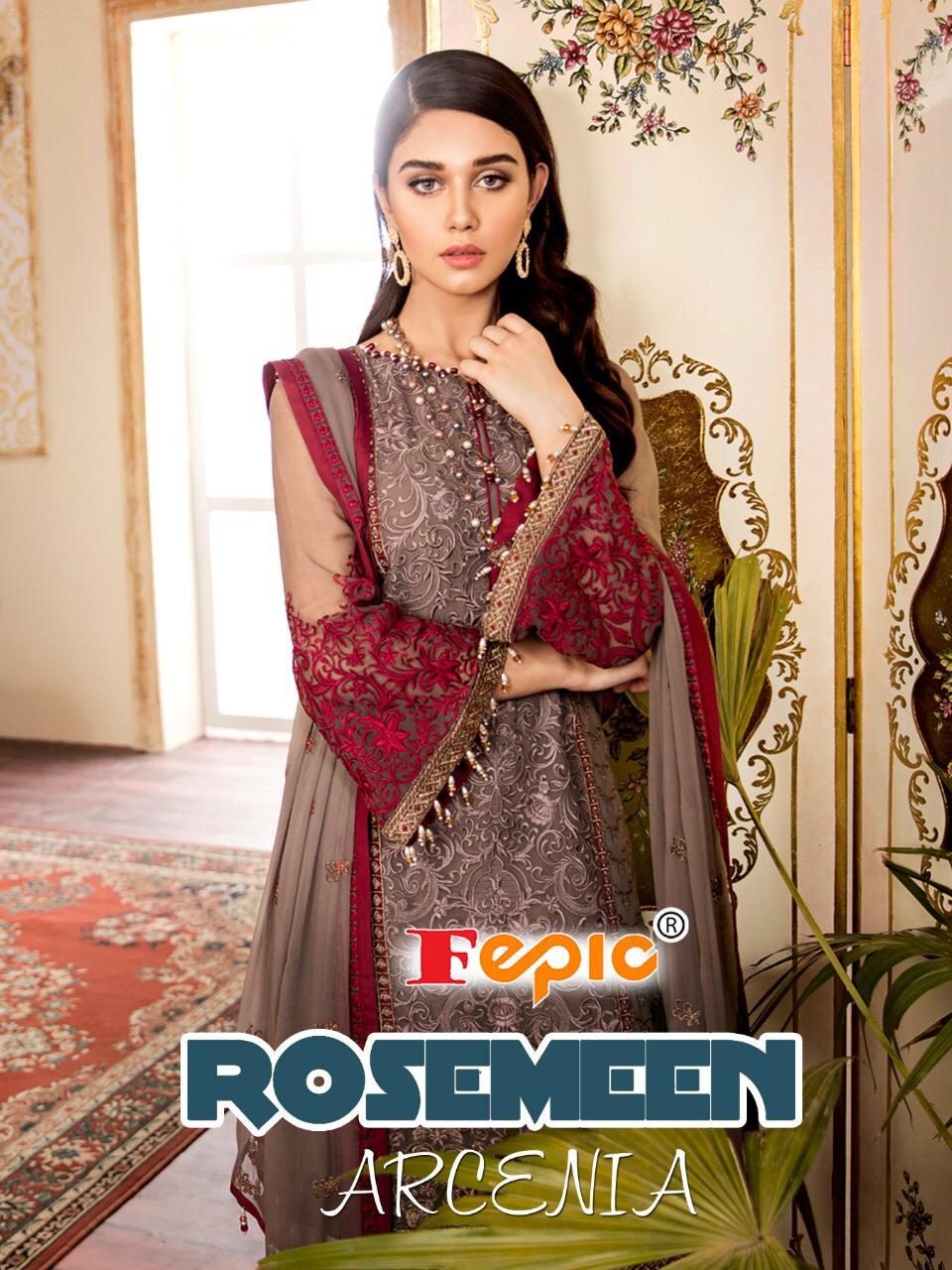 Fepic Rosemeen Arcenia Designer Pakistani Suits In Best Wholesale Rate