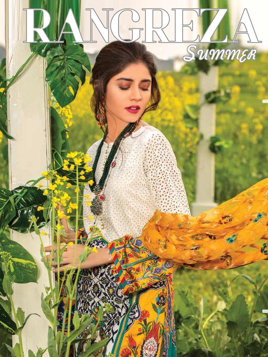 Saniya Trendz Rangreza Summer Lawn - 19 Designer Pakistani Suits Wholesale