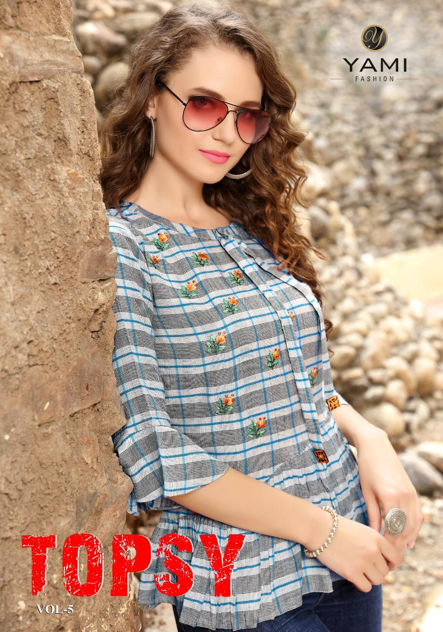 Yami Fashion Topsy Vol 5 Designer Rayon Stitch Western Tops Wholesale
