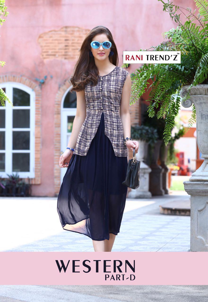 Rani Trendz Western - D Designer Western Kurties In Best Wholesale Rate