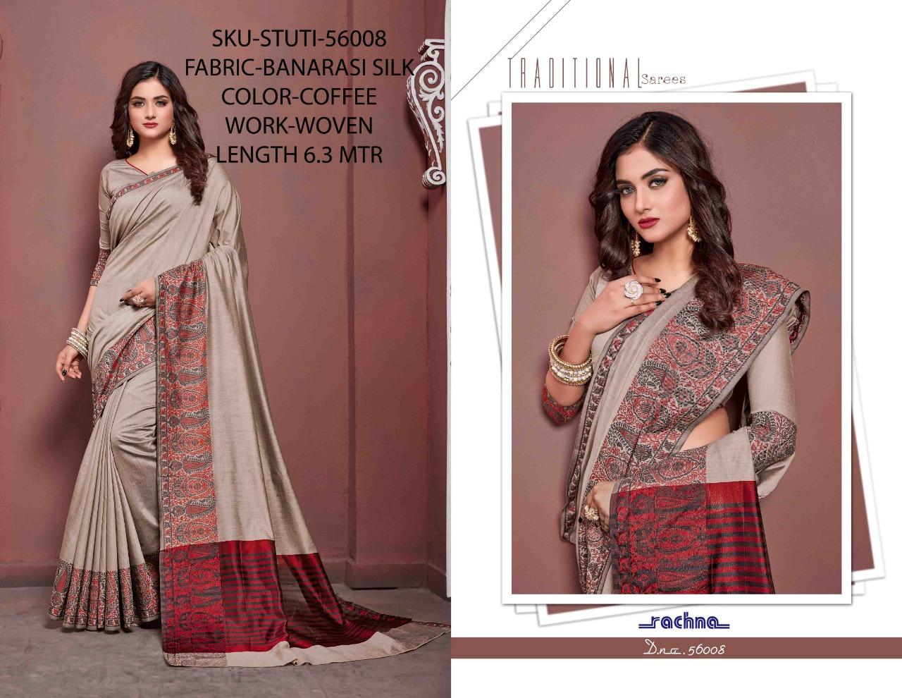 Rachna Stuti Designer Banarasi Silk Party Wear Sarees Wholesale