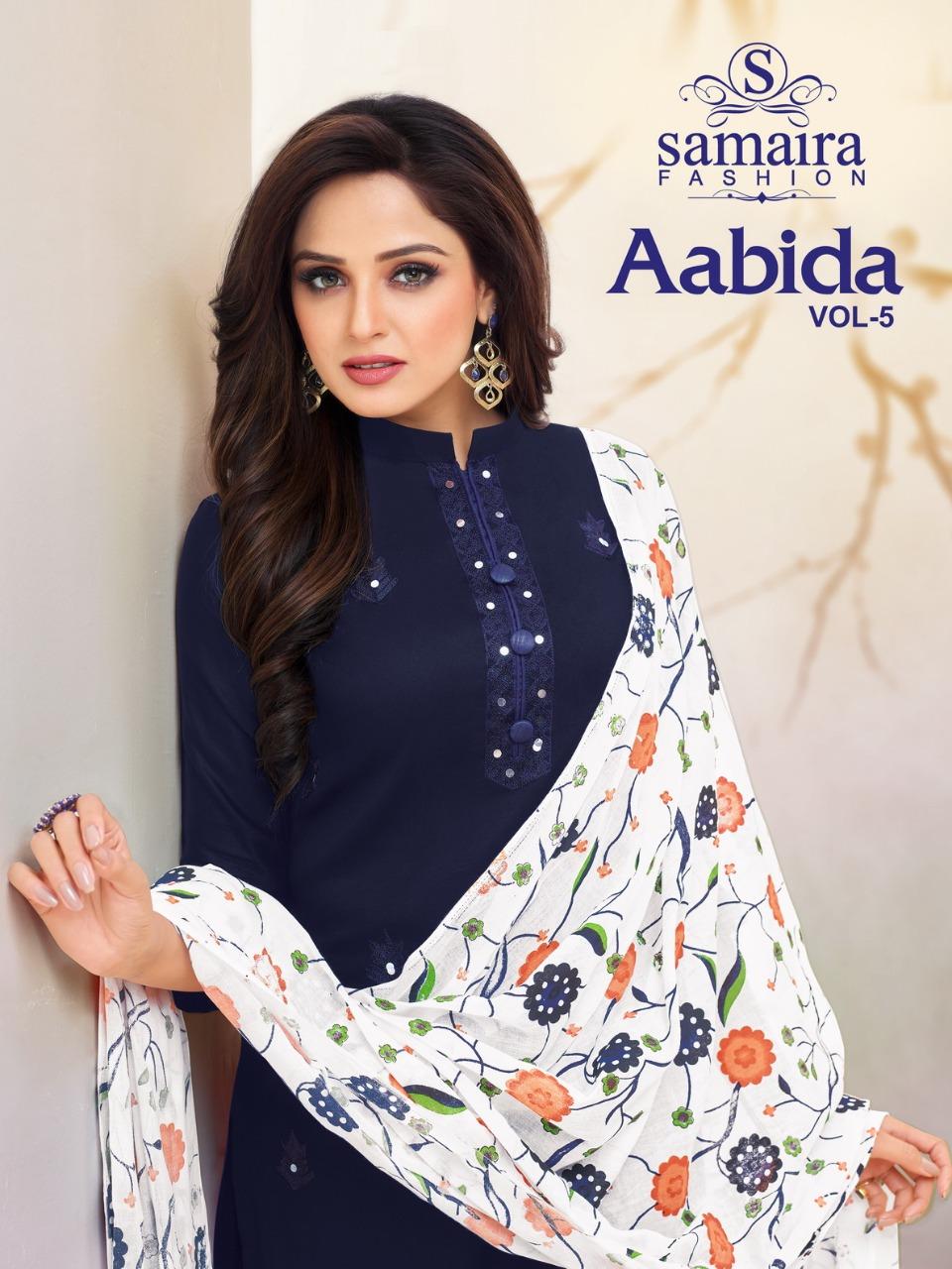 Samaira Fashion Aabida Vol 5 Designer Pure Cotton Jam Silk Suits In Best Wholesale Rate