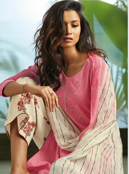 Ganga Oryn Designer Embroidery With Gotta Patti Lace Suits Wholesale