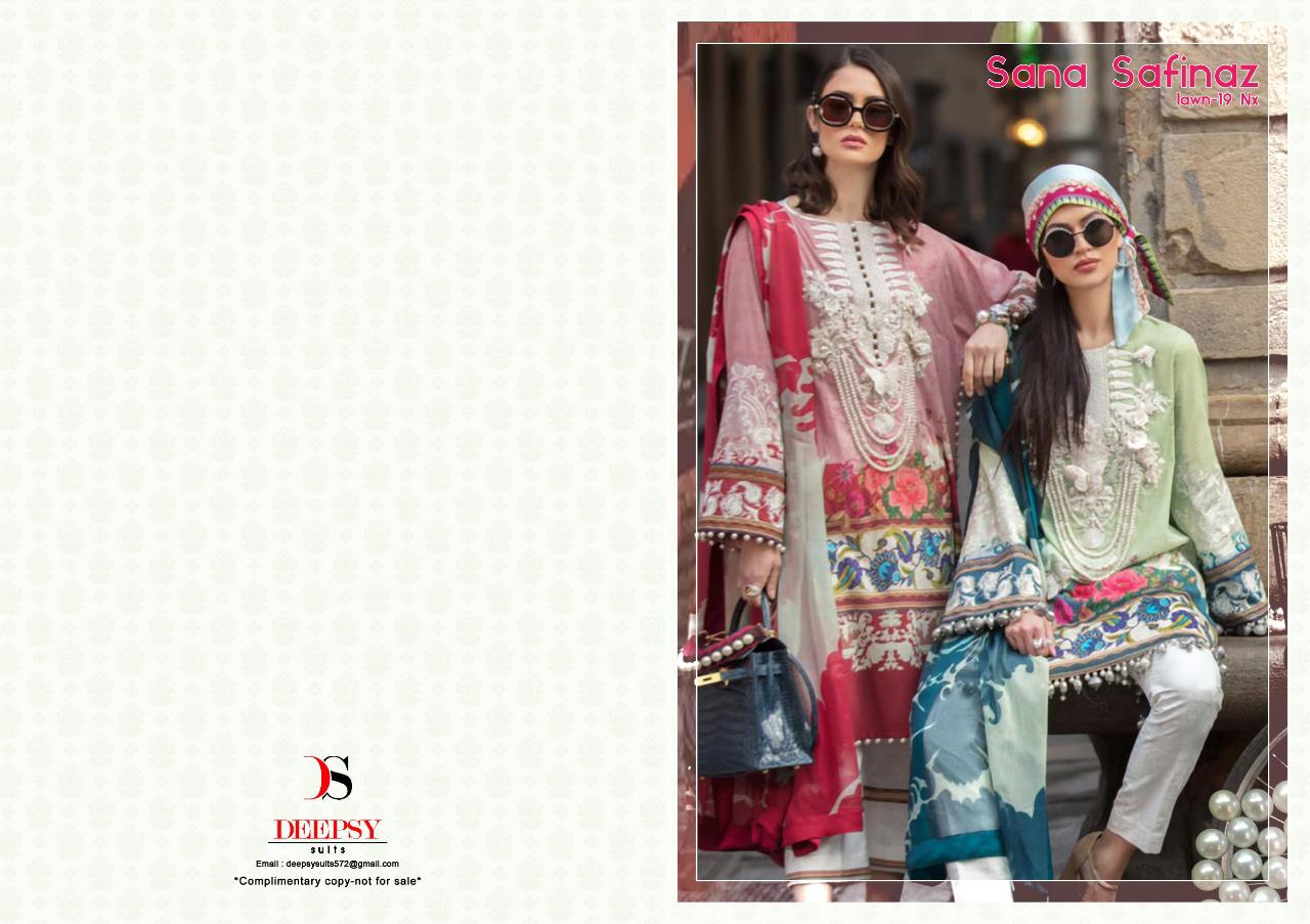 Deepsy Sana Safinaz Lawn 19 Nx  Designer Pakistani Replica Collection In Best Wholesale Rate